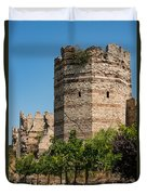 Theodosian Walls - View 3 Duvet Cover