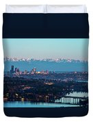 The_olympics_over_seattle Duvet Cover