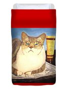 Therapy Cat Duvet Cover