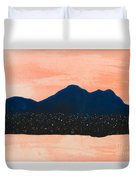 There Are No Mountains In Michigan Duvet Cover
