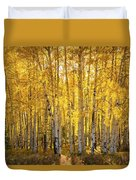 There's Gold In Them Woods  Duvet Cover