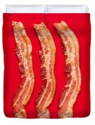 Thick Cut Bacon Served Up Duvet Cover