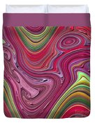 Thick Paint Abstract Duvet Cover