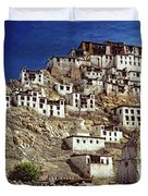Thiksey Monastery Duvet Cover