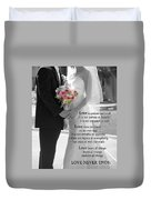 Things To Remember About Love - Black And White #3 Duvet Cover