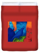 Thinkng Abaut Separation. Duvet Cover