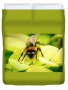 Thirsty Bumble Bee. Duvet Cover