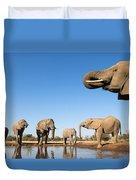 Thirsty Elephants Duvet Cover