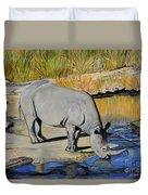 Thirsty Rhino Duvet Cover
