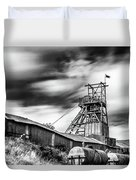 Thirty Seconds At Big Pit Mono Duvet Cover