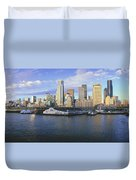 This Is The Skyline And Harbor Duvet Cover