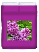 This Lilac Has Flowers With A White Edging.1 Duvet Cover