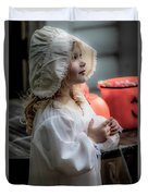 This Little Lady Gives Halloween Candy 5962vg Duvet Cover