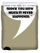 This Never Happened - Mad Men Poster Don Draper Quote Duvet Cover