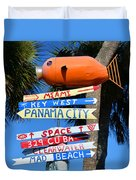 This Way To Florida Duvet Cover