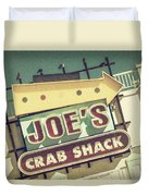This Way To Joe's Crab Shack Duvet Cover
