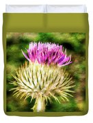 Thistle - The Flower Of Scotland Watercolour Effect. Duvet Cover