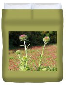 Thistles In A Field Of Clover Duvet Cover