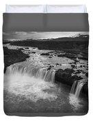 Thofafoss Waterfall Iceland 1538 Duvet Cover