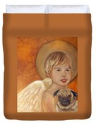 Thomas And Bentley Little Angel Of Friendship Duvet Cover by The Art With A Heart By Charlotte Phillips
