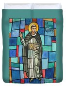 Thomas Aquinas Italian Philosopher Duvet Cover