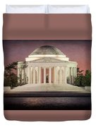 Thomas Jefferson Memorial At Sunset Artwork Duvet Cover