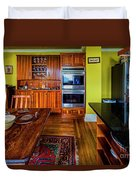 Thomas Kitchen With Old Fashioned Icebox And Refrigerator Duvet Cover