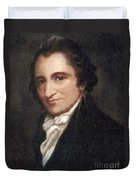 Thomas Paine, American Founding Father Duvet Cover