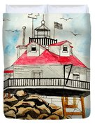 Thomas Point Lighthouse Duvet Cover