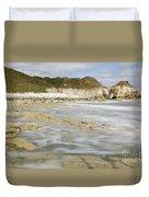Thornwick Bay At Flamborough Duvet Cover