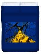 Thorny Tree Blue Sky Duvet Cover