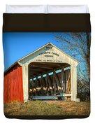 Thorpe Ford Covered Bridge Duvet Cover