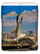 Those Jersey Gulls  Duvet Cover