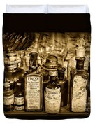 Those Old Apothecary Bottles In Sepia Duvet Cover