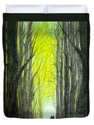 Though The Forest To The Light  Duvet Cover