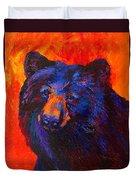 Thoughtful - Black Bear Duvet Cover