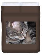 Thoughtful Holly The Cat Duvet Cover