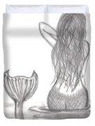Thoughtful Mermaid Duvet Cover