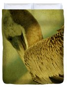 Thoughtful Pelican Duvet Cover