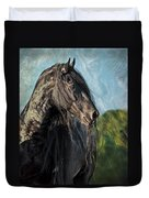 Thoughts Of Friesians Duvet Cover