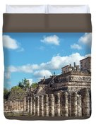 Thousand Columns And Temple Of The Warriors Duvet Cover