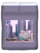 Thousands Of Windows On The Harbor Duvet Cover