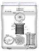 Thread Spool Patent 1877  Duvet Cover