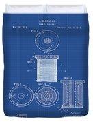 Thread Spool Patent 1877 Blueprint Duvet Cover