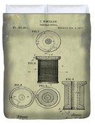 Thread Spool Patent 1877 Weathered Duvet Cover