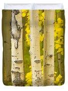 Three Autumn Aspens Duvet Cover