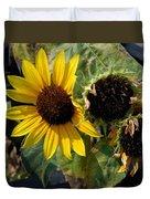 Three Beautiful Sunflower Duvet Cover