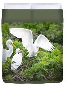 Three Birds Of A Feather Flock Together Duvet Cover