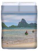 Three Boats Thailand Duvet Cover