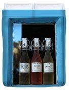 Three Bottles Of Liqueur Duvet Cover